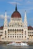 Construction hongroise du Parlement Photos stock