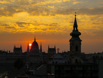 Construction hongroise du parlement, Budapest photo stock