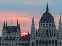 Construction hongroise du parlement, Budapest Photos stock