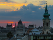 Construction hongroise du parlement, Budapest photographie stock