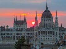 Construction hongroise du parlement, Budapest Image stock