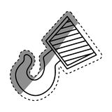 Construction hook crane. Icon  illustration graphic design Royalty Free Stock Photography