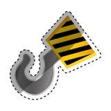 Construction hook crane. Icon  illustration graphic design Stock Photo