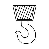 Construction hook crane. Icon  illustration graphic design Stock Images