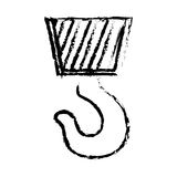 Construction hook crane. Icon  illustration graphic design Stock Photos