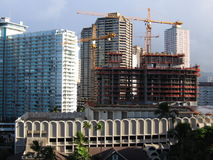 Construction of hotel. Erection of a new building,center of Waikiki Hawaii Royalty Free Stock Images