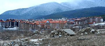 Construction. Of hotel in Bansko, Bulgaria Royalty Free Stock Image