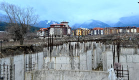 Construction. Of hotel in Bansko, Bulgaria Stock Photography