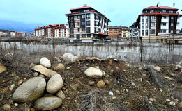 Construction. Of hotel in Bansko, Bulgaria Stock Photo