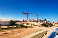 Construction of hotels Royalty Free Stock Photo