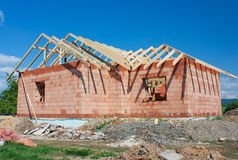 Construction house Stock Image