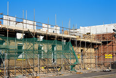 Construction House. Construction of new homes Stock Image