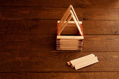 Construction of a house, construction of a roof Royalty Free Stock Photography