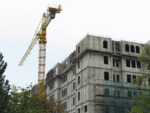 Construction house with crane Stock Image