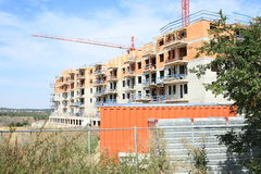 Construction of house with flats royalty free stock photography