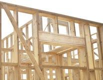 Construction of house, framework. Stock Photos