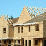 Construction House Framing Royalty Free Stock Photos
