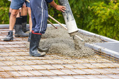Construction of a house Royalty Free Stock Image