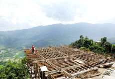 Construction of house in Pokhara valley Stock Photography