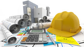 Construction of a house. Reforms in the home. Reforming a house for rent Stock Photography