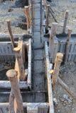 Construction house, reinforcement metal framework Stock Photo