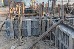 Construction house, reinforcement metal framework Royalty Free Stock Photography
