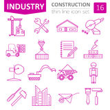 Construction and house repair icon set. Thin line design Royalty Free Stock Images