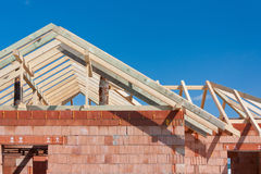 Construction house - roof Stock Photos