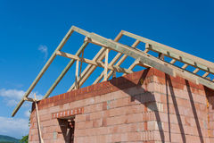 Construction House - Roof Royalty Free Stock Photography