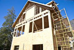 Construction/House/Scaffolding Royalty Free Stock Photography