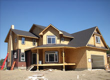 Construction of houses Royalty Free Stock Images