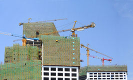 Construction houses in china Royalty Free Stock Photo