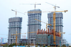 Construction houses in china Royalty Free Stock Photography