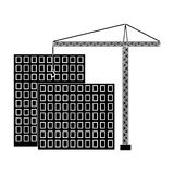 Construction of houses, real estate.Realtor single icon in black style vector symbol stock illustration web. Royalty Free Stock Image