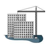 Construction of houses, real estate.Realtor single icon in cartoon style vector symbol stock illustration web. Stock Photos