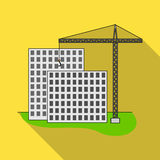 Construction of houses, real estate.Realtor single icon in flat style vector symbol stock illustration web. Royalty Free Stock Image