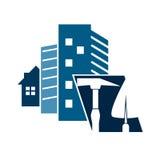 Construction of houses symbol Stock Photo