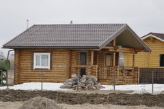 construction of houses of timber Royalty Free Stock Photos