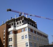 Construction of housing complex. In Melitopol royalty free stock images