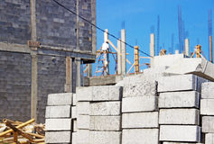 Construction of housing in  suburb Stock Photo