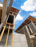 Construction of housing in a suburb Royalty Free Stock Images