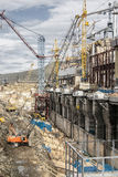 Construction of hydro electric station Stock Photography