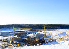 Construction of hydropower plant Royalty Free Stock Images