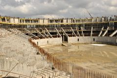 Construction of an ice arena Stock Images