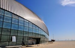 Construction of ice hockey rink in Sochi Stock Images