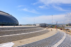 Construction of ice hockey rink in Sochi Stock Image
