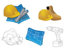 Construction Icon Collection Royalty Free Stock Images
