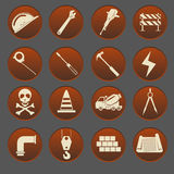 Construction Icon Set Stock Photos