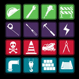Construction Icon Set Stock Photography