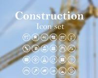 Construction icon set Stock Photos